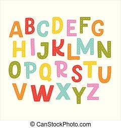 Cute hand drawn alphabet