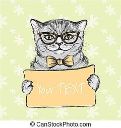 Cute hand drawn cat