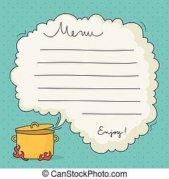Cute hand drawn menu template