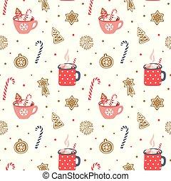 Cute hand drawn seamless pattern.