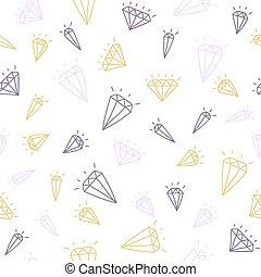 Cute hand drawn seamless pattern with diamonds