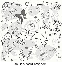 Cute Hand Drawn Winter Pattern. Seamless Texture. Vector Illustration
