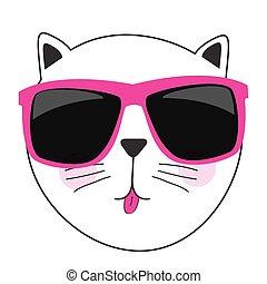 Cute Handdrawn Cat Isolated Vector Illustration EPS10
