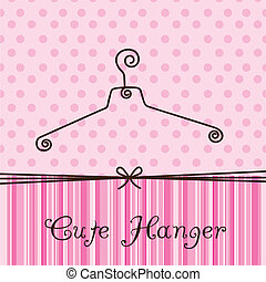 cute hanger over pink background. vector illustration