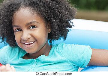 Cute Happy African American Girl