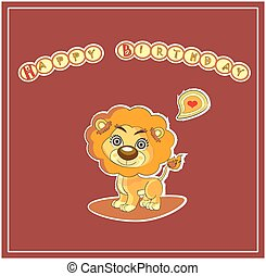 cute happy birthday card design. vector