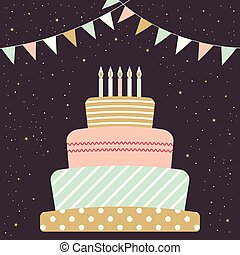 card with cake