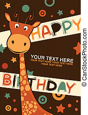 Cute happy birthday card