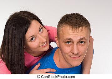 Cute happy couple