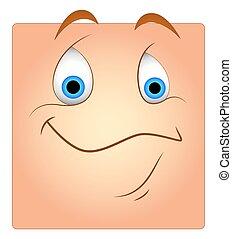 Cute Happy Face Box Smiley
