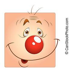 Cute Happy Joker Face Smiley