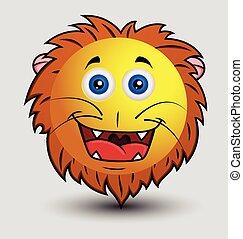 Cute Happy Lion Smiley