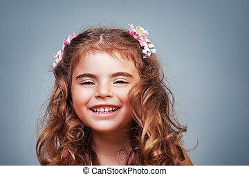 Cute happy little girl
