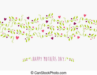 Cute Happy Mothers day seamless pattern