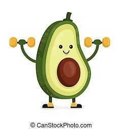 Cute happy smiling avocado vector