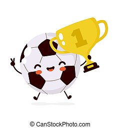Cute happy smiling Football ball character