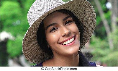 Cute Happy Smiling Teen Girl