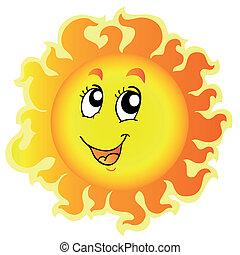 Cute happy Sun - vector illustration.