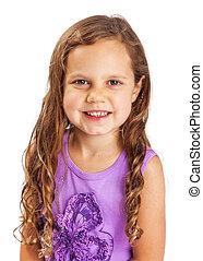 Cute Happy Young Girl Closeup