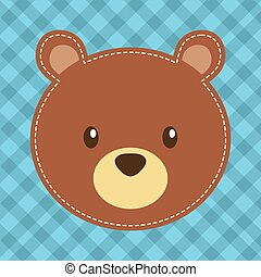 cute head bear teddy bear