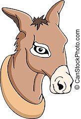 Cute head donkey