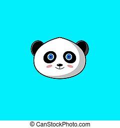 Cute Head Panda Mascot