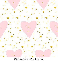 Cute Heart Paint Seamless Pattern