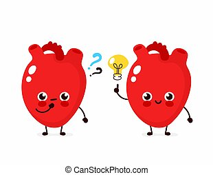 Cute heart with question mark