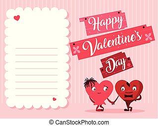 cute hearts couple love card