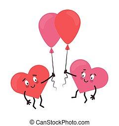 cute hearts in love cartoons