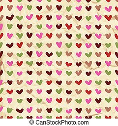 Cute hearts seamless pattern