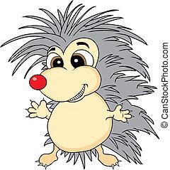 Cute hedgehog - Vector illustration of a cute looking...