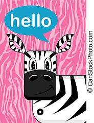 Cute Hello Zebra