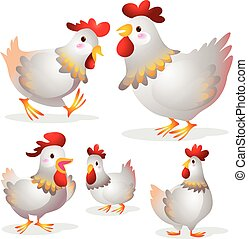 Cute hen cartoon