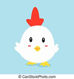 Cute Hen Vector Illustration