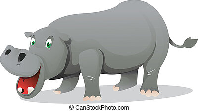 hippo - cute hippo cartoon