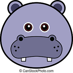 Cute Hippo Vector