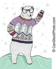 Cute hipster polar