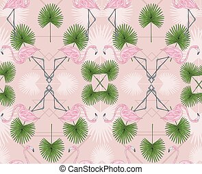 Cute hipster seamless pattern