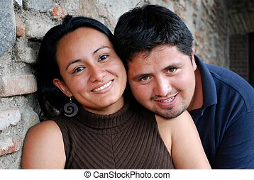 Cute Hispanic Couple