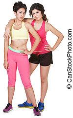 Cute Hispanic Workout Girls