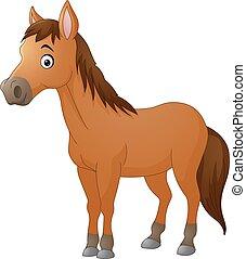 Cute horse cartoon - Vector of illustration Cute horse...