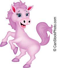Cute horse standing