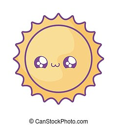 cute hot sun kawaii style