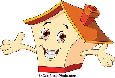 Cute house cartoon