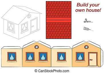 Cute House Template - Template of a cute and neat little...