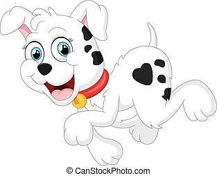 cute, hund, cartoon