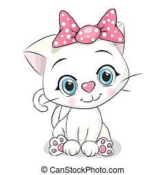 cute, hvid, cartoon, killingen