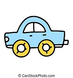 Cute icon of children's toy car