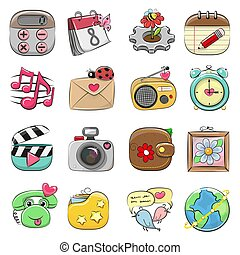 Cute icon set for Web and Mobile App